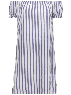 VMSTRIPY OFFSHOULDER DRESS A 10174207 Snow White/Denim Blue