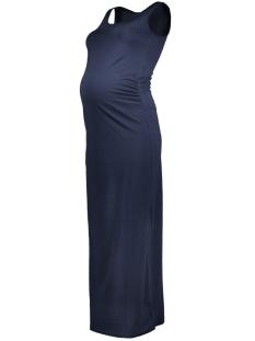 Mama-Licious Positie jurk MLLEA ORGANIC S/L MAXI DRESS PLAIN 20007340 Navy Blazer