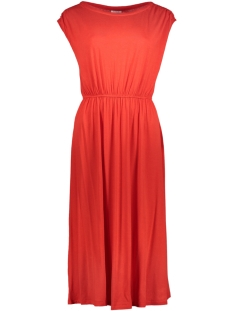 Vila Jurk VISAMJA S/L DRESS 14042351 Flame Scarlet