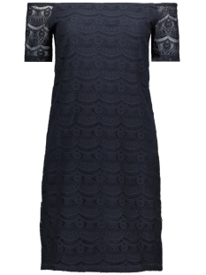 Vila Jurk VIMONIE LACE OFF-SHOULDER DRESS 14042057 Total Eclipse