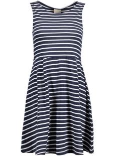 VMOSLO STRIPE S/L SHORT DRESS D2-3 10178157 Navy Blazer/Snow White