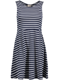 Vero Moda Jurk VMOSLO STRIPE S/L SHORT DRESS D2-3 10178157 Navy Blazer/Snow White