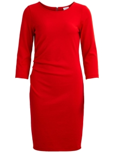 Vila Jurk VIKRISTIN 3/4 SLEEVE DRESS 14043620 Flame Scarlet