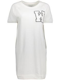 Jacqueline de Yong Jurk JDYPETUNIA S/S PRINT DRESS JRS 15131797 Cloud Dancer/ W Embroidery