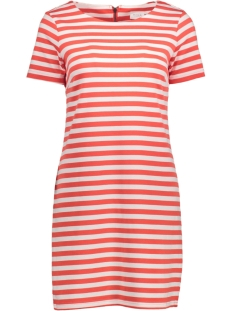 VITINNY NEW S/S DRESS - NOOS 14032604 Hot Coral/ Snow White