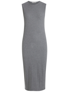 Pieces Jurk PCKYLLIE SL MIDI DRESS 17082230 Medium Grey Melange