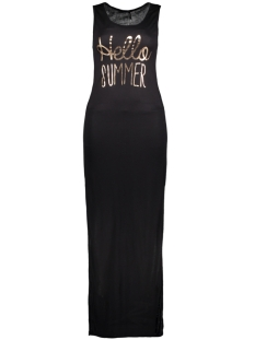 onlINES S/L LONG PRINT DRESS JRS 15136055 Black/Rose Gold