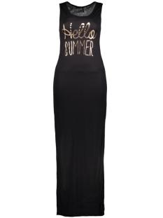 Only Jurk onlINES S/L LONG PRINT DRESS JRS 15136055 Black/Rose Gold