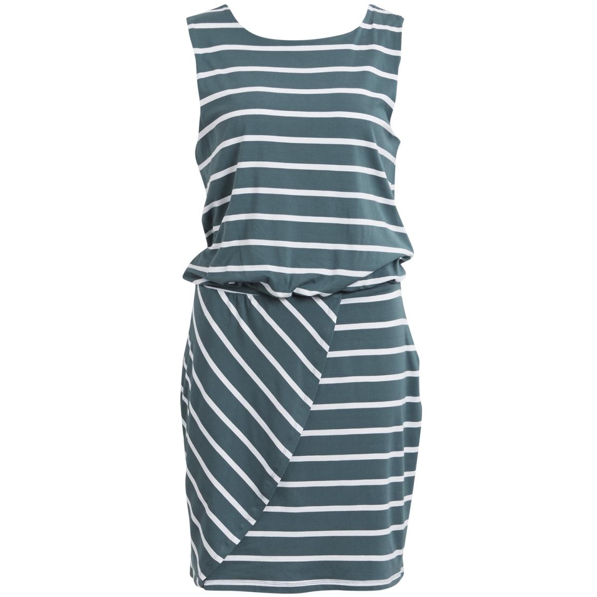 objelona wrap s/l dress 23023662 object jurk balsam green