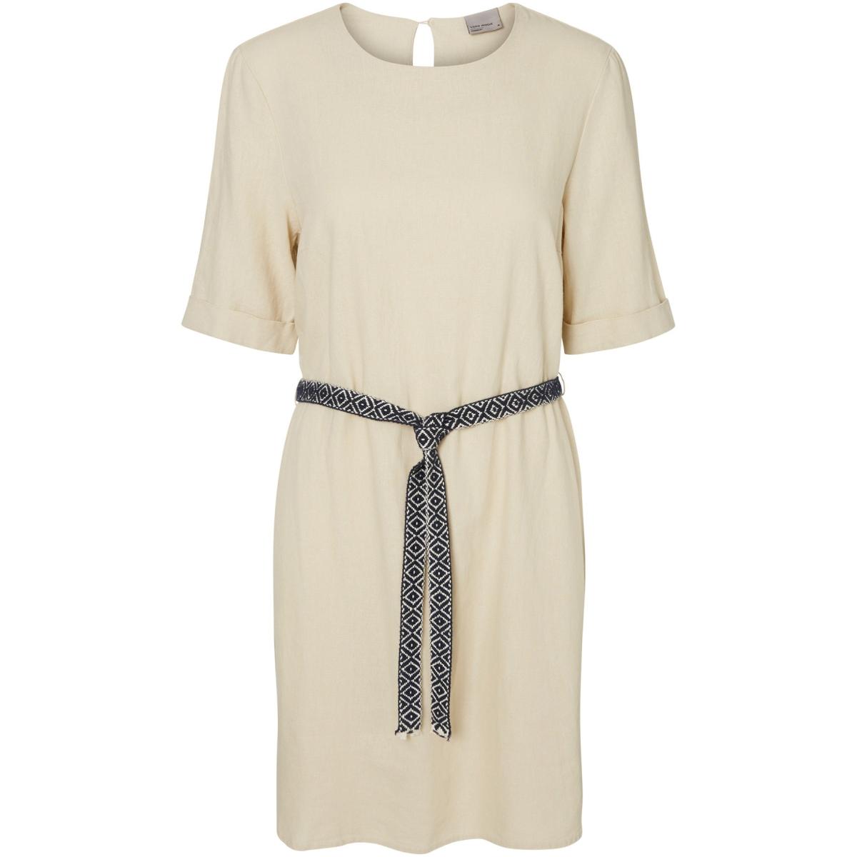 vmmilo suki 2/4 dress a 10171432 vero moda jurk oatmeal