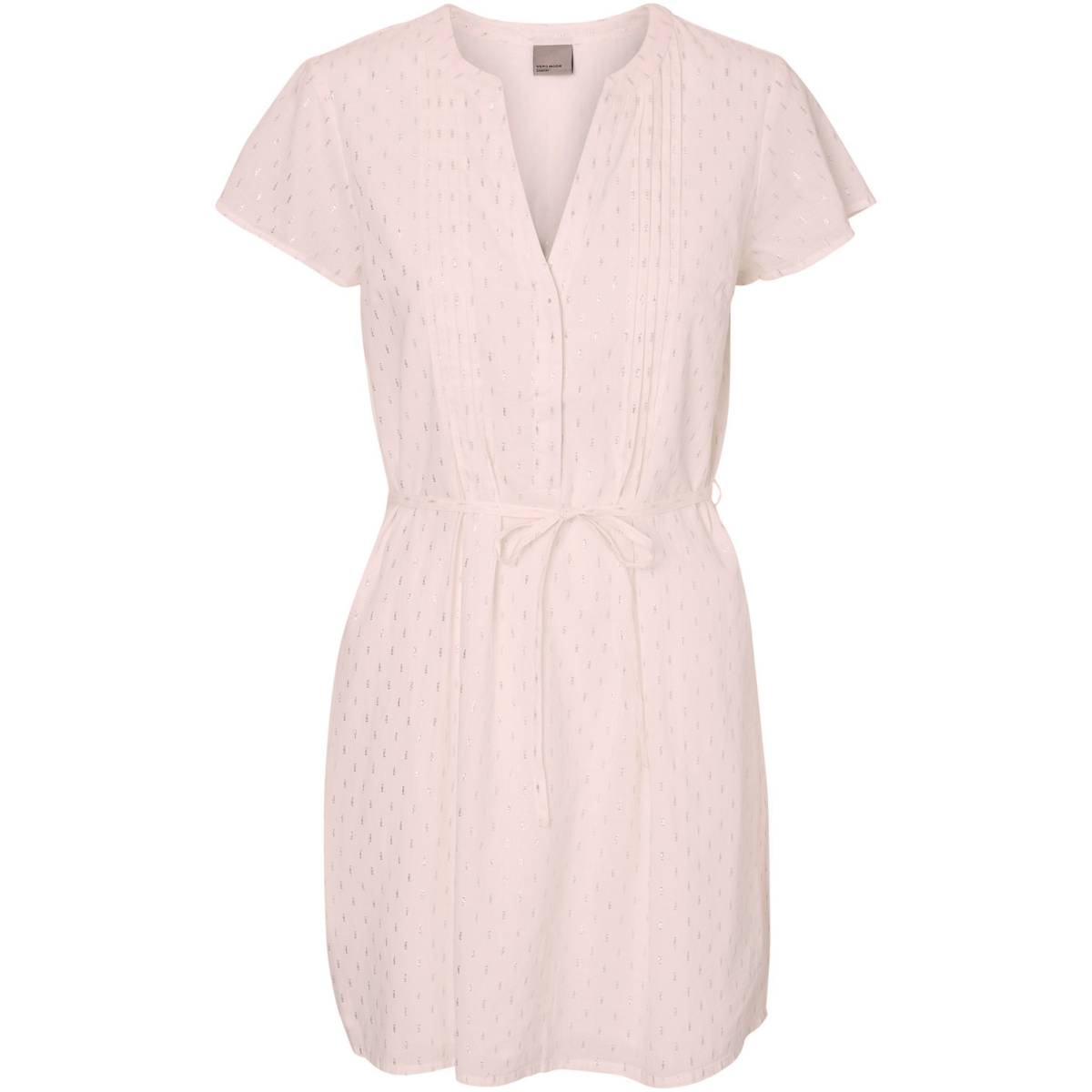 vmsilver capsleeve short dress 10181608 vero moda jurk peach whip