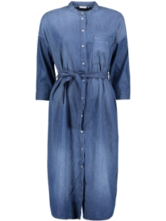 Jacqueline de Yong Jurk JDYESSIE 3/4 SHIRT DRESS DNM 15145854 Medium Blue Denim
