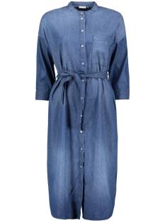 Jacqueline de Yong Jurk JDYESSIE 3/4 SHIRT DRESS DNM 15145854 Medium Blue Denim