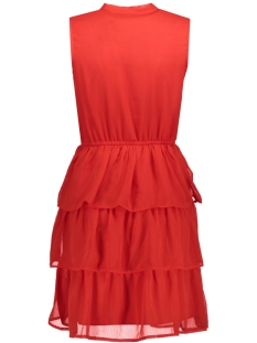 onlbubba s/l layed short dress wvn 15143128 only jurk flame scarlet