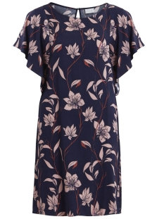 Vila Jurk VILYRI S/S DRESS 14043662 Dark Navy