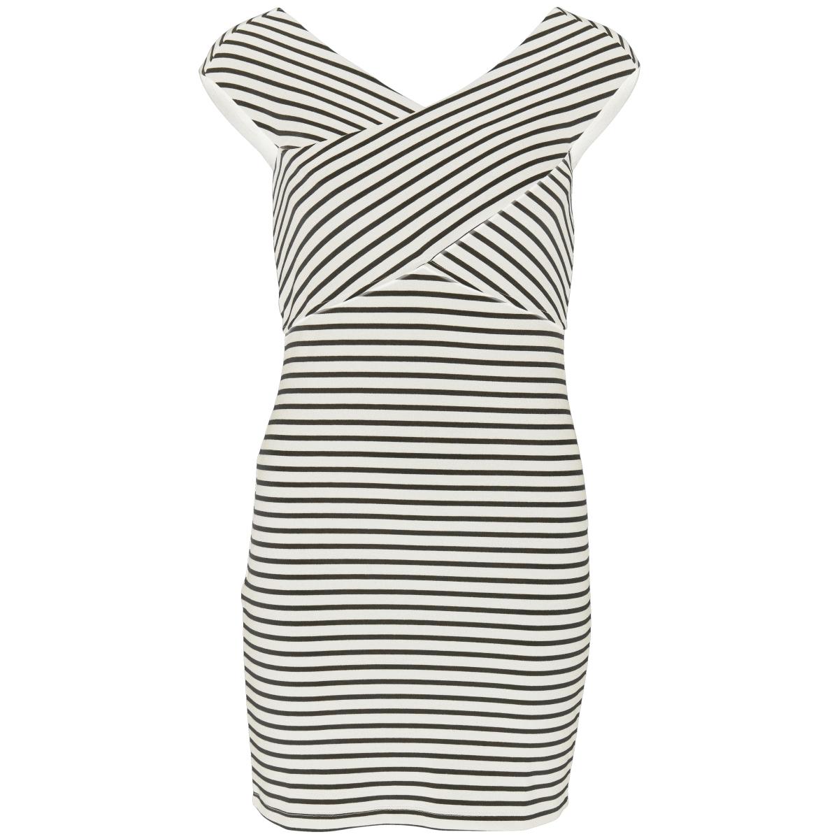 onlpollydaria s/l dress jrs 15138637 only jurk cloud dancer/y/d stripe