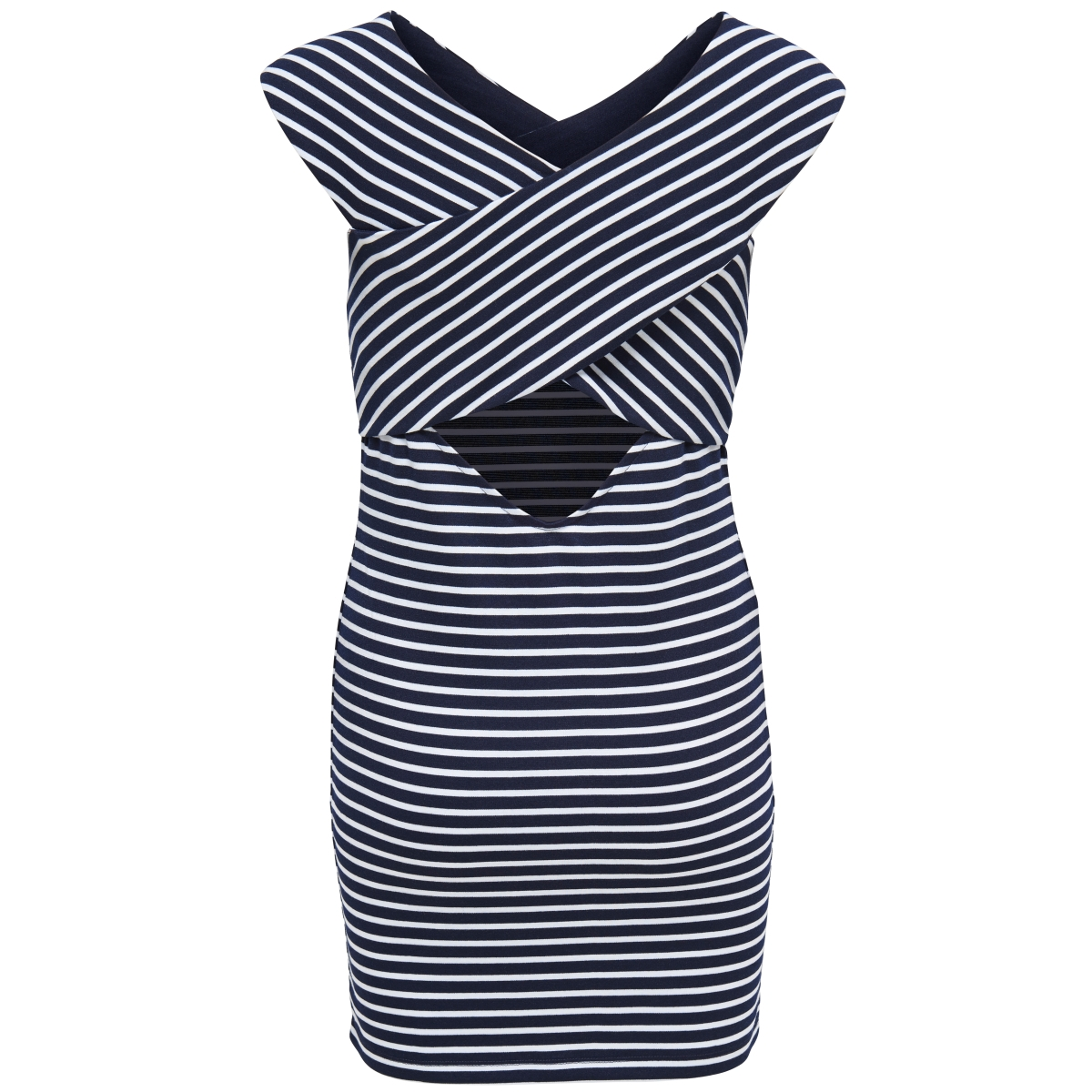 onlpollydaria s/l dress jrs 15138637 only jurk night sky/y/d stripe