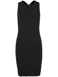 Noisy may Jurk NMLAILA CROSS S/L SHORT DRESS 6X 10184782 Black