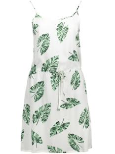 Vero Moda Jurk VMNOW SINGLET  SHORT DRESS A 10175854 Snow White/Greenpalma
