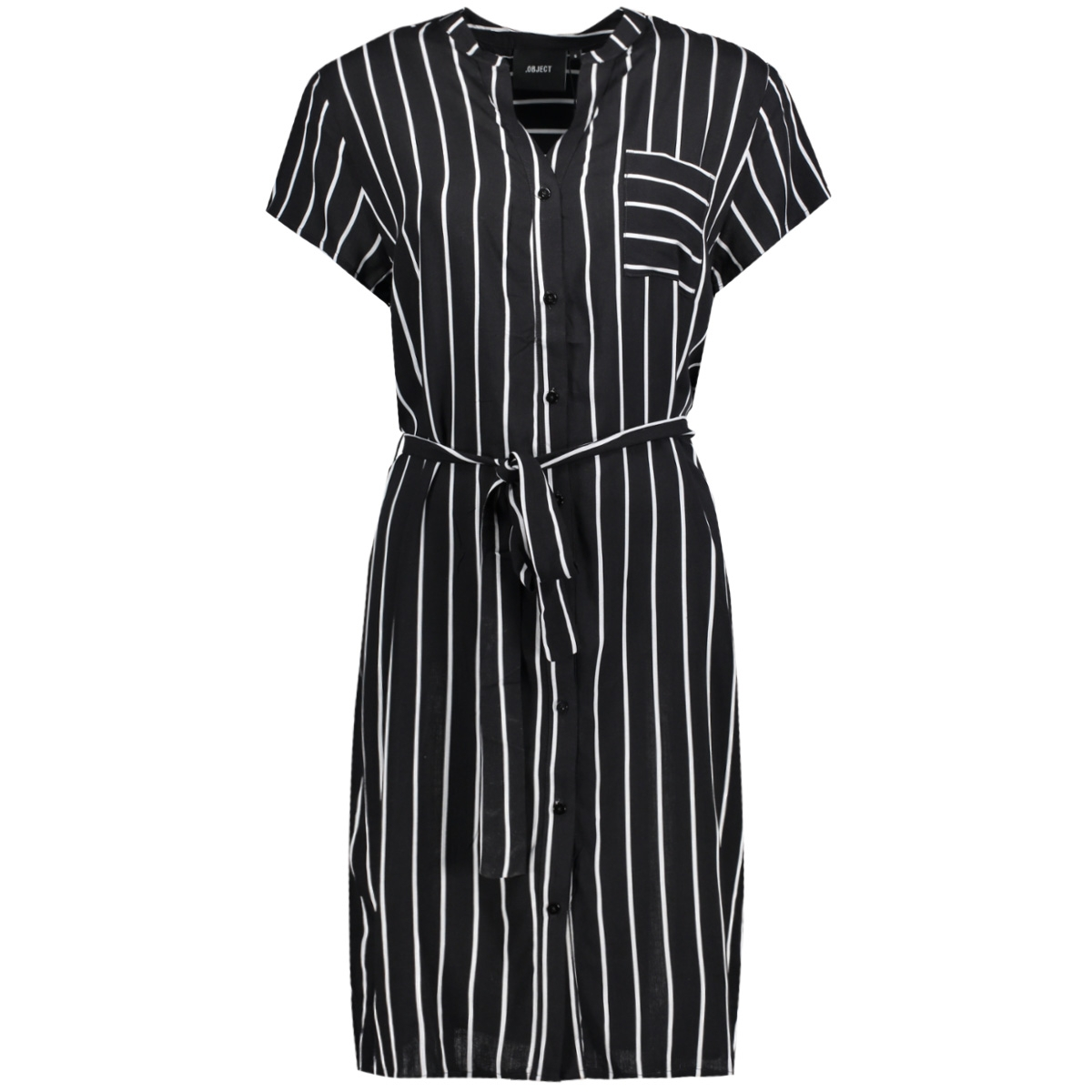 objbirdy s/s abk dress a 23026168 object jurk black/white