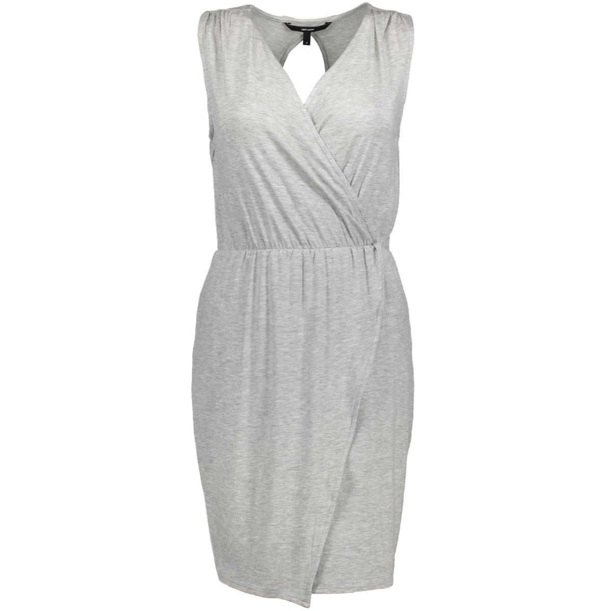 vmamazing great sl short dress d2 l 10190958 vero moda jurk light grey melange