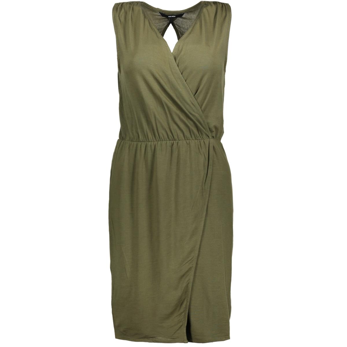 vmamazing great sl short dress d2 l 10190958 vero moda jurk ivy green