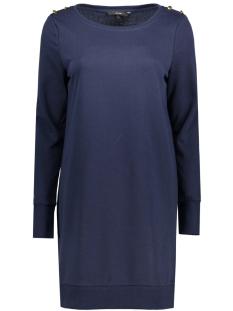 Vero Moda Jurk VMAVA LS BOATNECK BUTTON SHORT DRESS 10182622 Navy Blazer