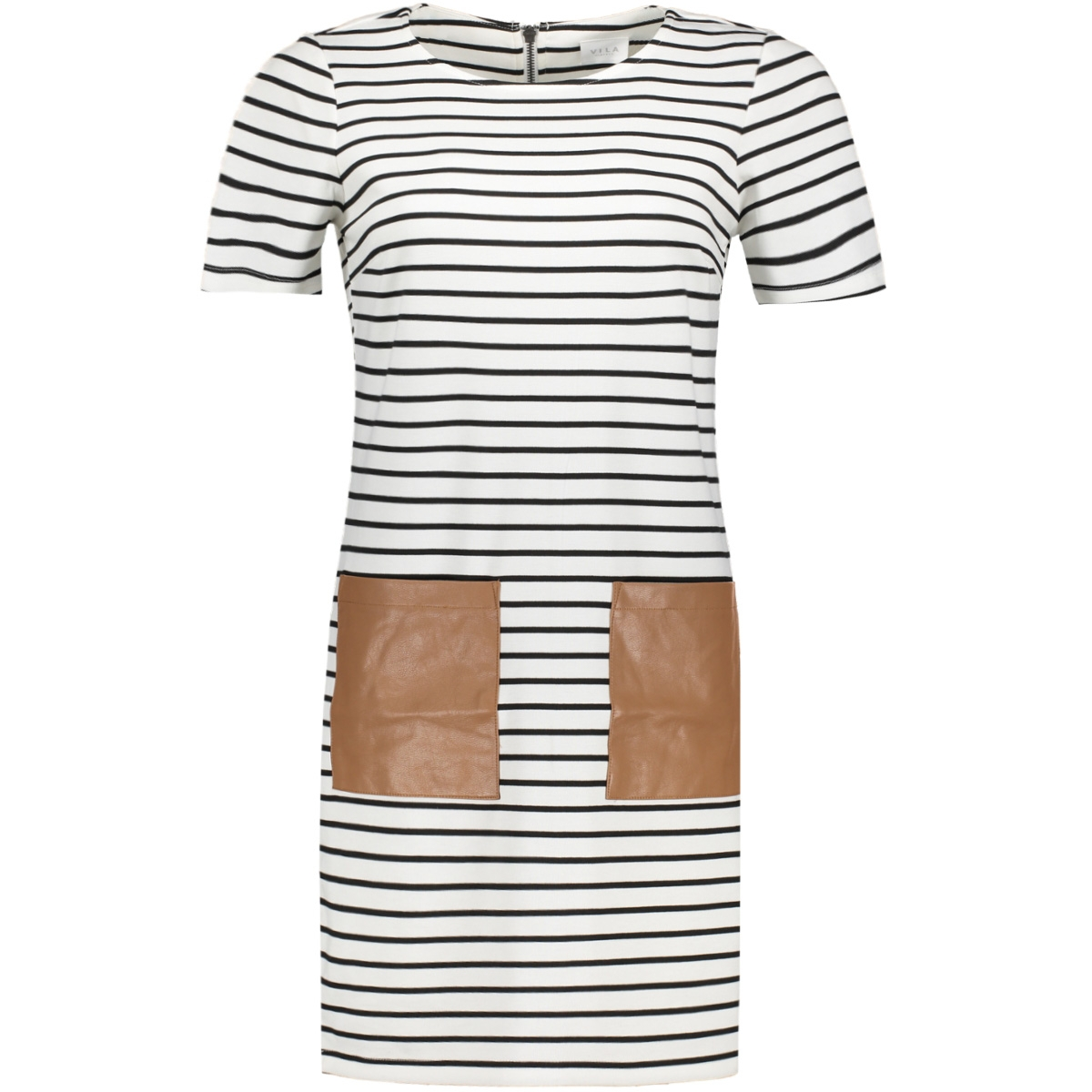vitinny pocket dress/1 14044205 vila jurk snow white/black stri