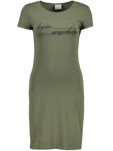 VMJACINTA SS SHORT DRESS COLOR 10186368 Ivy Green/Begin Anyw