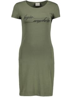 Vero Moda Jurk VMJACINTA SS SHORT DRESS COLOR 10186368 Ivy Green/Begin Anyw