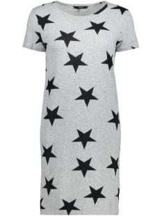 Only Jurk onlELCOS S/S DRESS JRS RP1 15149079 Light Grey Mela/Black Star