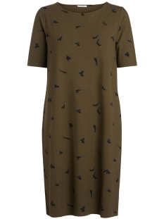 Pieces Jurk PCNIBE 2/4 DRESS_FINGER PAINT 17084158 Dark Olive/Finger Pai