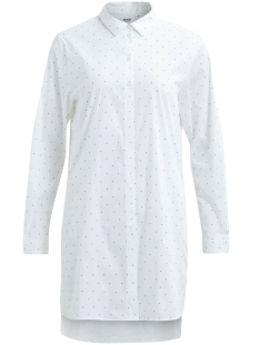 Object Blouse OBJPOPLIN L/S SHIRT DRESS PB2 23024943 White/WHITE WITH