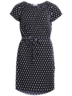 viadonia s/s dress 14045059 vila jurk dark navy/dark navy