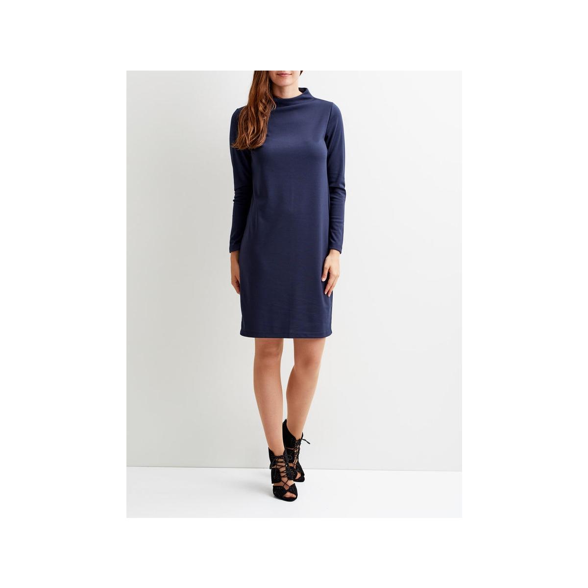 vifaunas l/s high neck dress-fav 14043490 vila jurk total eclipse