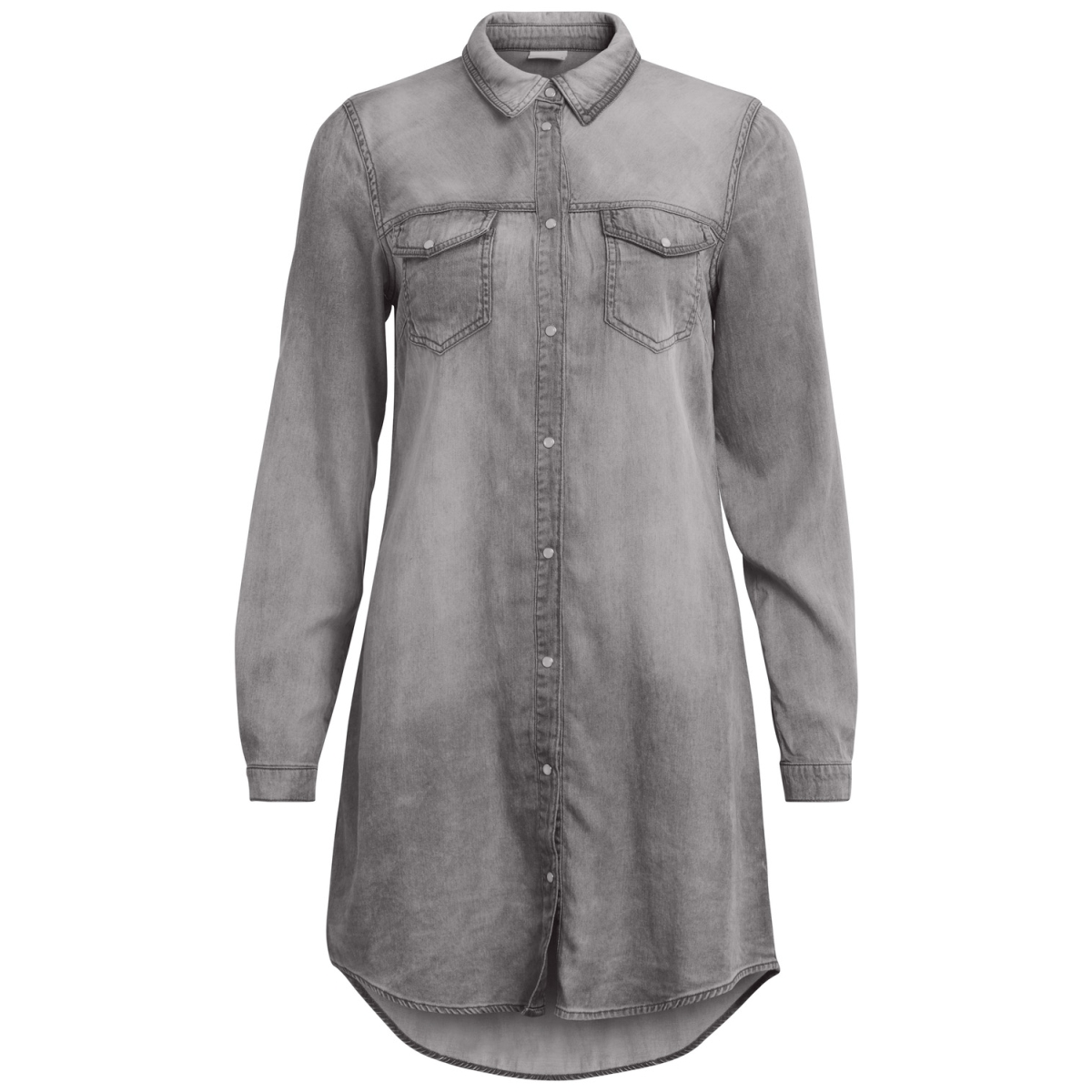 vibista denim dress-fav 14043658 vila blouse grey denim