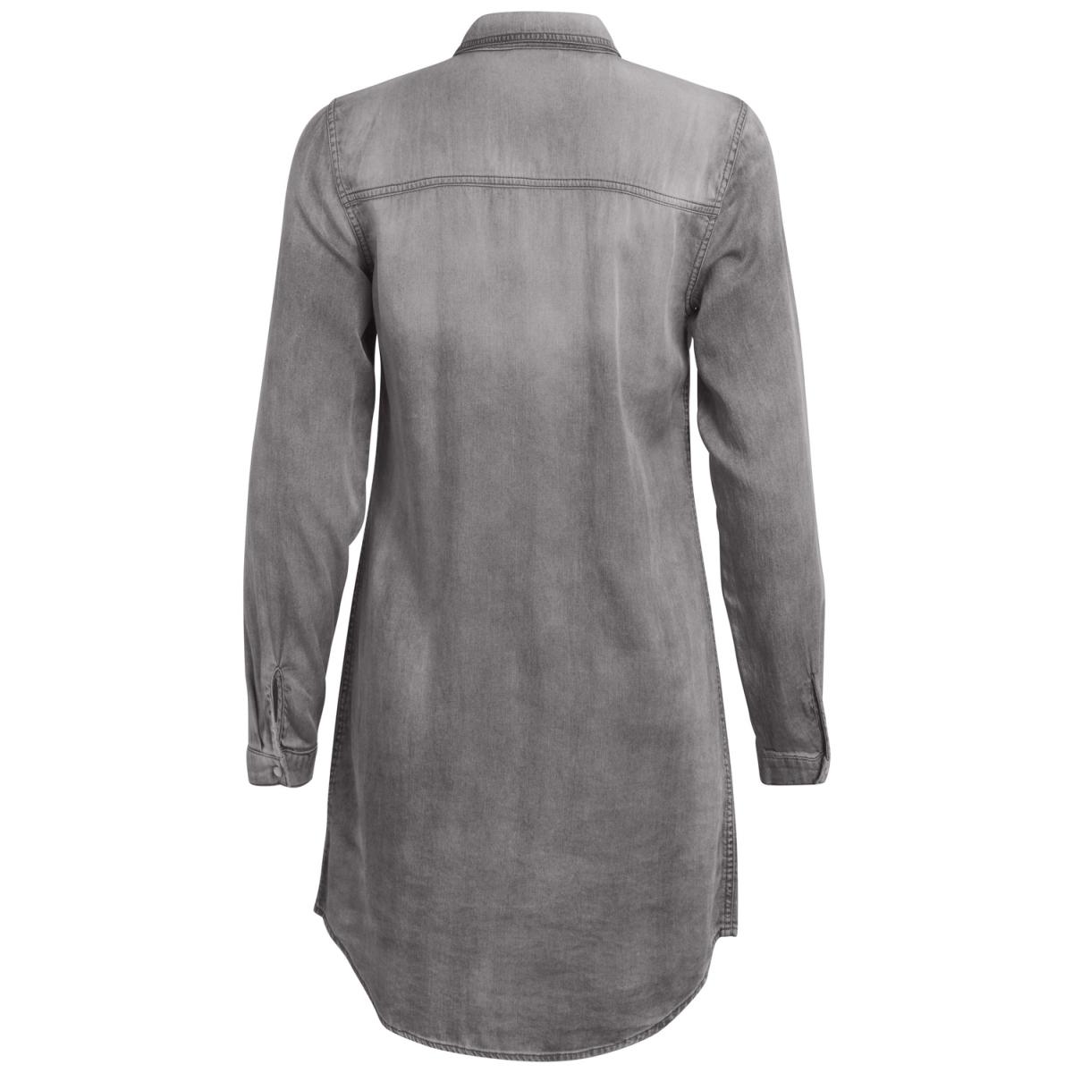 vibista denim dress-fav 14043658 vila blouse grey denim