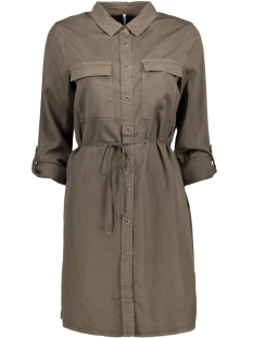 Only Jurk onlBELLA LUX TENCEL SHIRT DRESS TLR 15135583 Tarmac