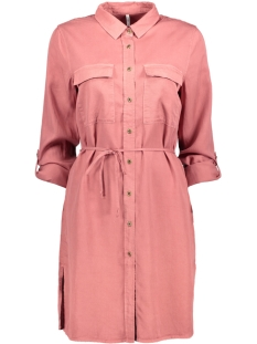 Only Jurk onlBELLA LUX TENCEL SHIRT DRESS TLR 15135583 Withered Rose