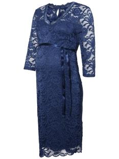 Mama-Licious Positie jurk MLMIVANA 3/4 JERSEY DRESS 20007260 Dark Denim