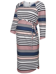 Mama-Licious Positie jurk MLDIZZY 3/4 JERSEY DRESS  20007498 Old Rose/ Stripe