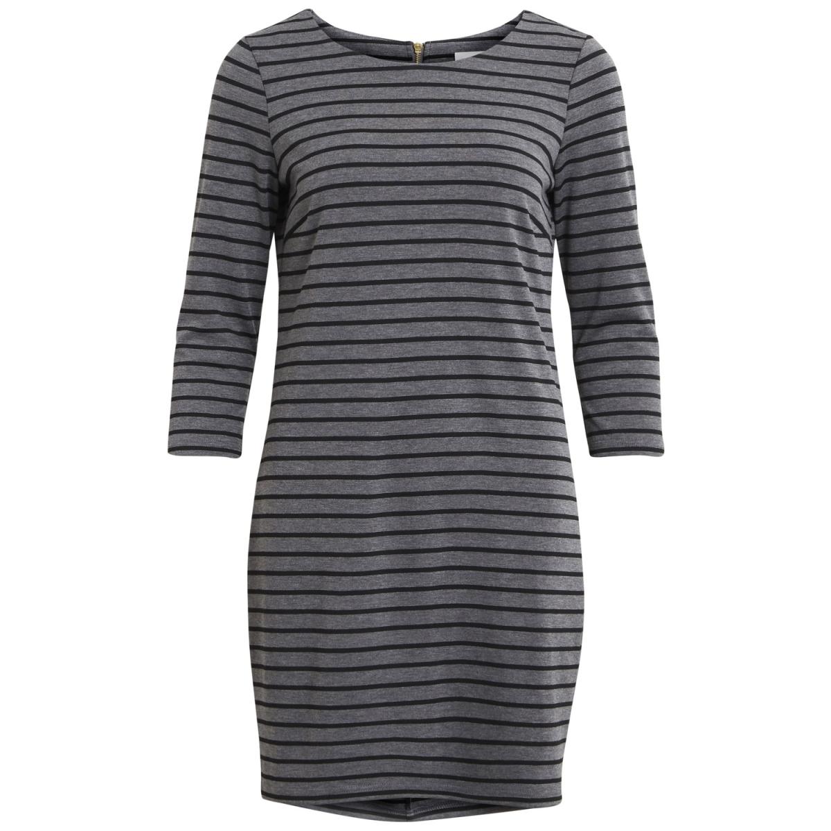 vitinny new dress-noos 14033863 vila jurk medium grey mel/black