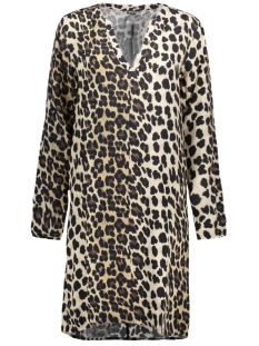 Juul & Belle Jurk LEOPARD V-NECK DRESS Leopard