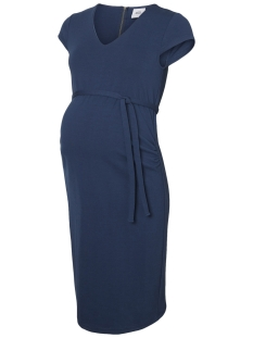 Mama-Licious Positie jurk MLBLACKIE CAP SLEEVE JERSEY DRESS 20006245 Dark Denim