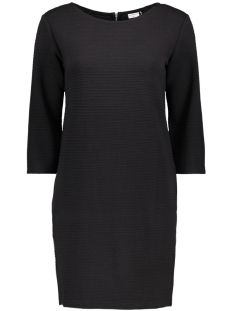 Jacqueline de Yong Jurk JDYCRAVE  3/4 ZIP DRESS SWT 15145794 Black/ Stripe STR
