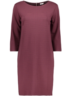 Jacqueline de Yong Jurk JDYCRAVE  3/4 ZIP DRESS SWT 15145794 Vineyard Wine/ Stripe STR