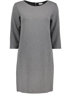 Jacqueline de Yong Jurk JDYCRAVE  3/4 ZIP DRESS SWT 15145794 Dark Grey Melange/ Strip STR