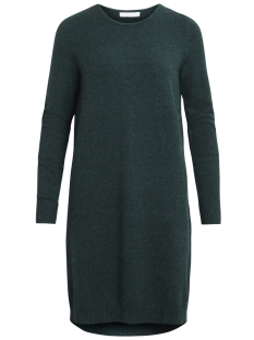 Vila Jurk VIRIL L/S KNIT DRESS-NOOS 14042768 Pine Grove/MELANGE