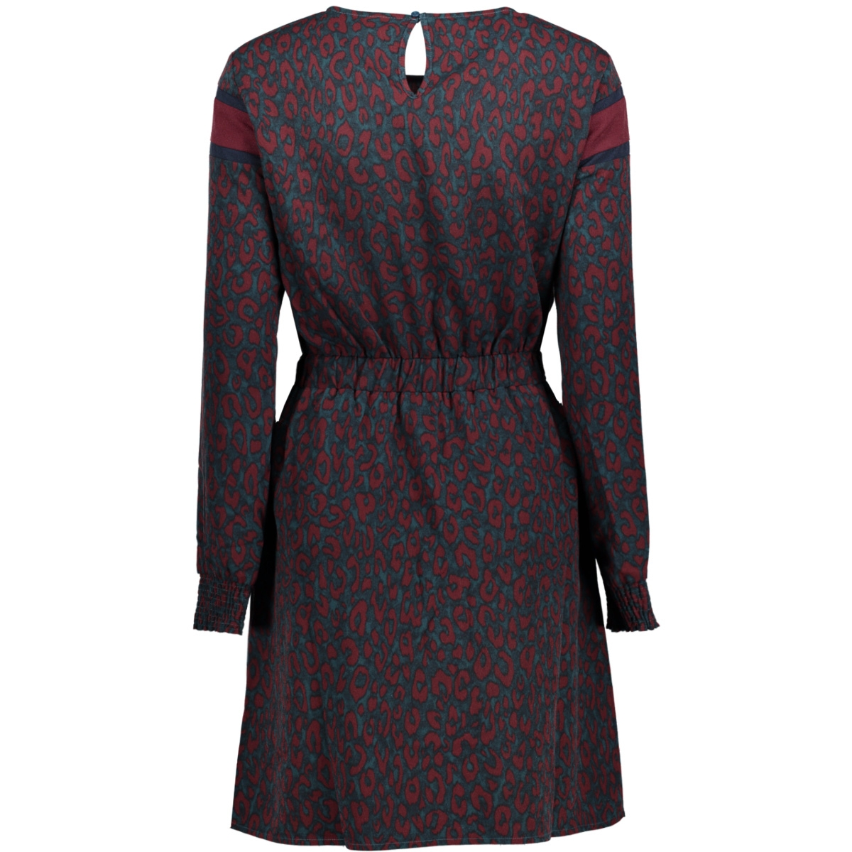 onltabitha l/s block dress wvn 15141862 only jurk reflecting pond/leopard co