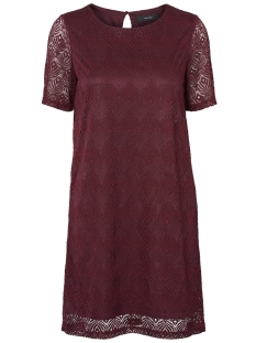 Vero Moda Jurk VMMAJSE 2/4 SHORT LACE DRESS JRS A 10182882 Zinfandel